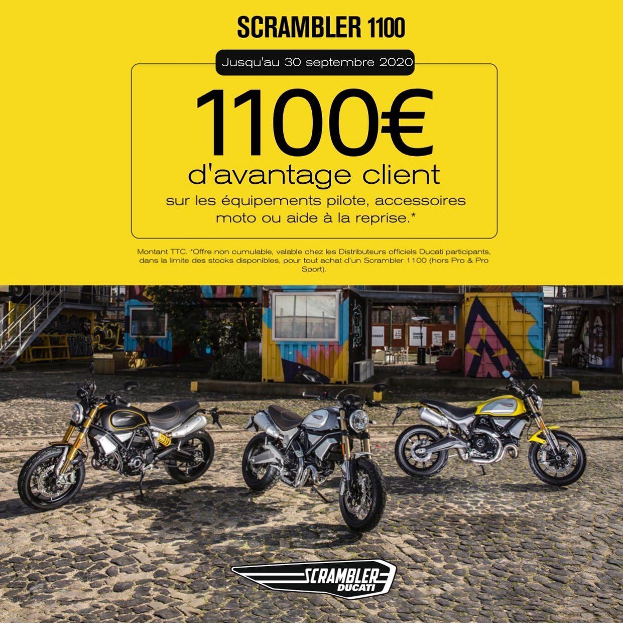 Avantage client sur la Scrambler 1100